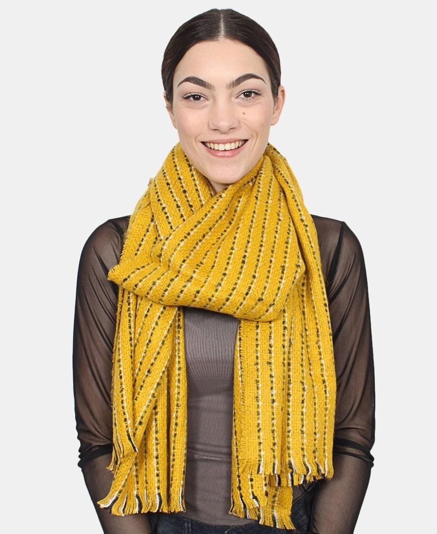 Two Tone Scarf - Yellow
