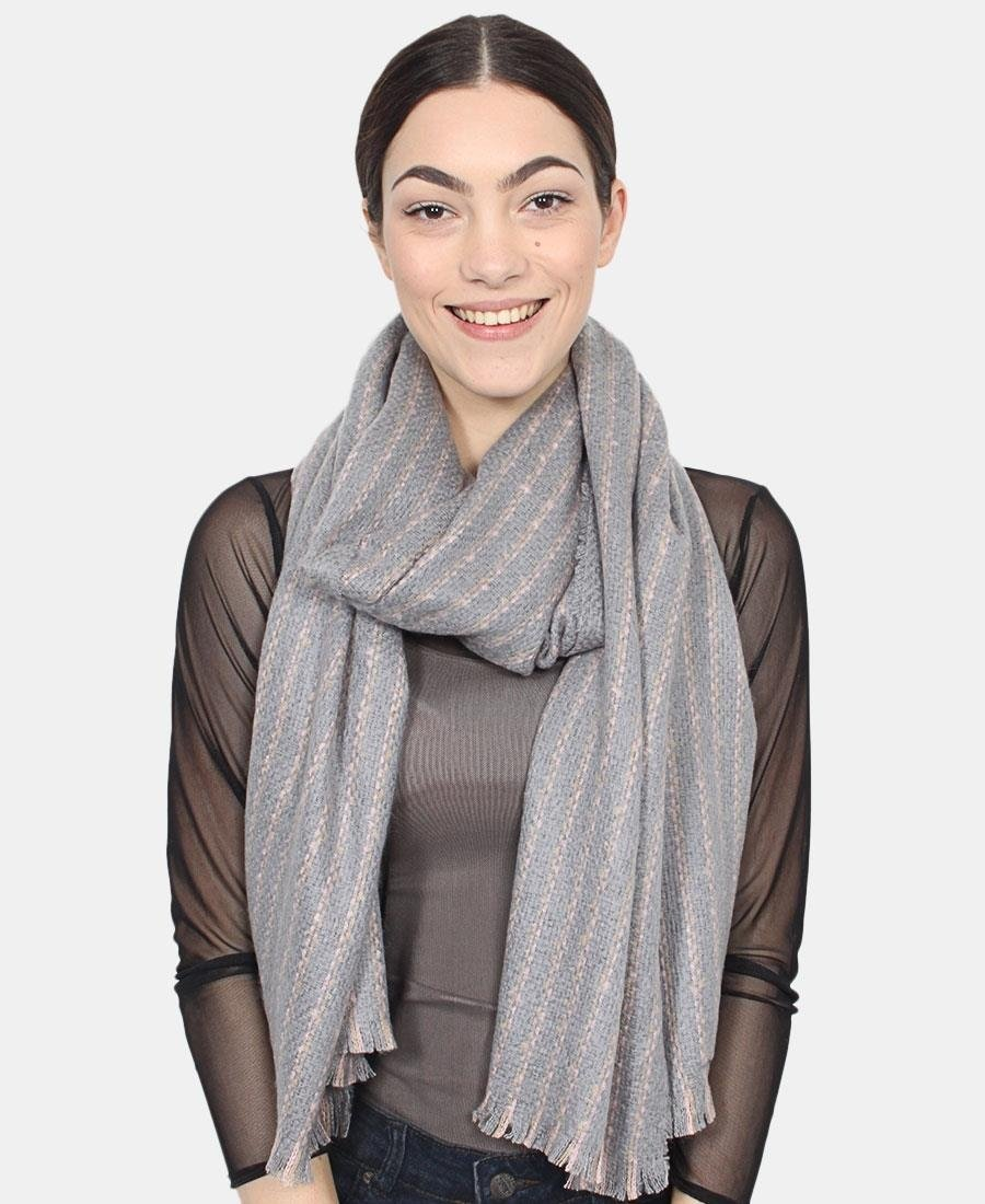 Two Tone Scarf - Grey