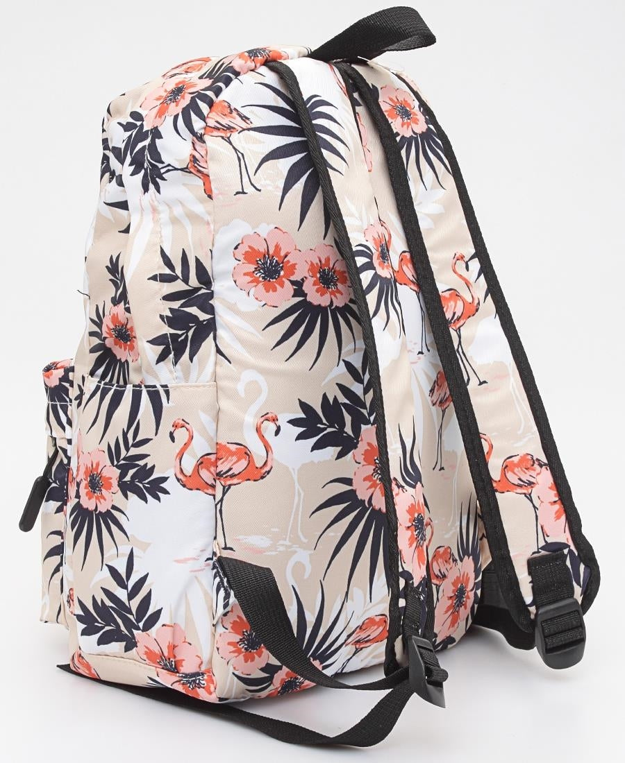 Printed Backpack - Beige