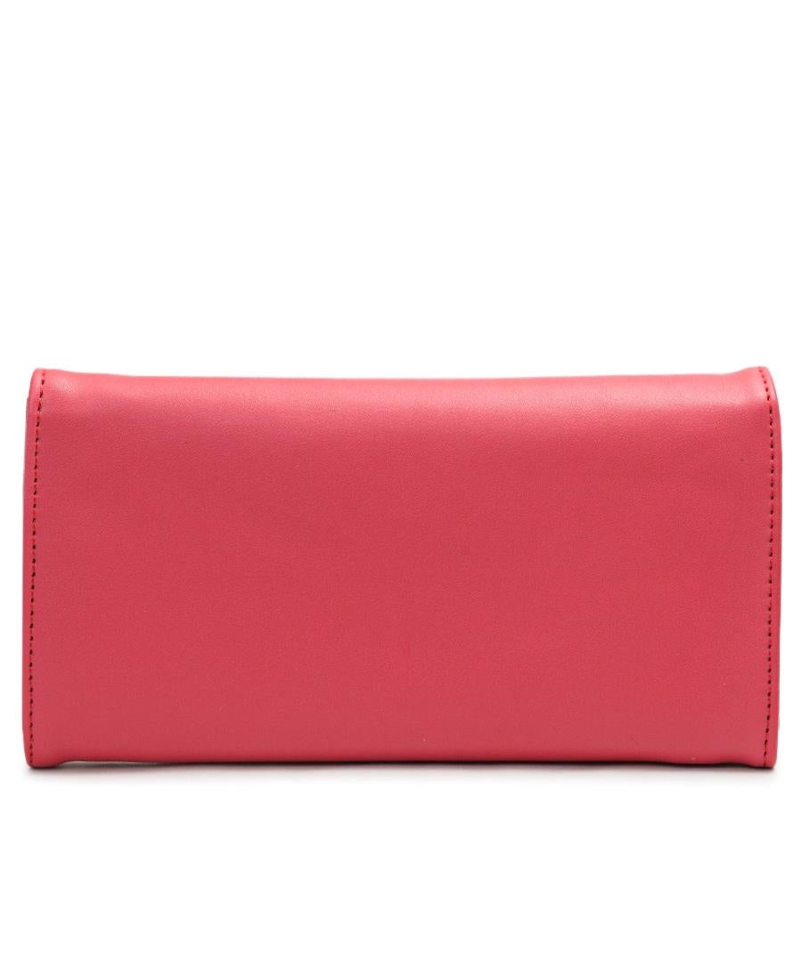 Studded Flap Wallet - Coral