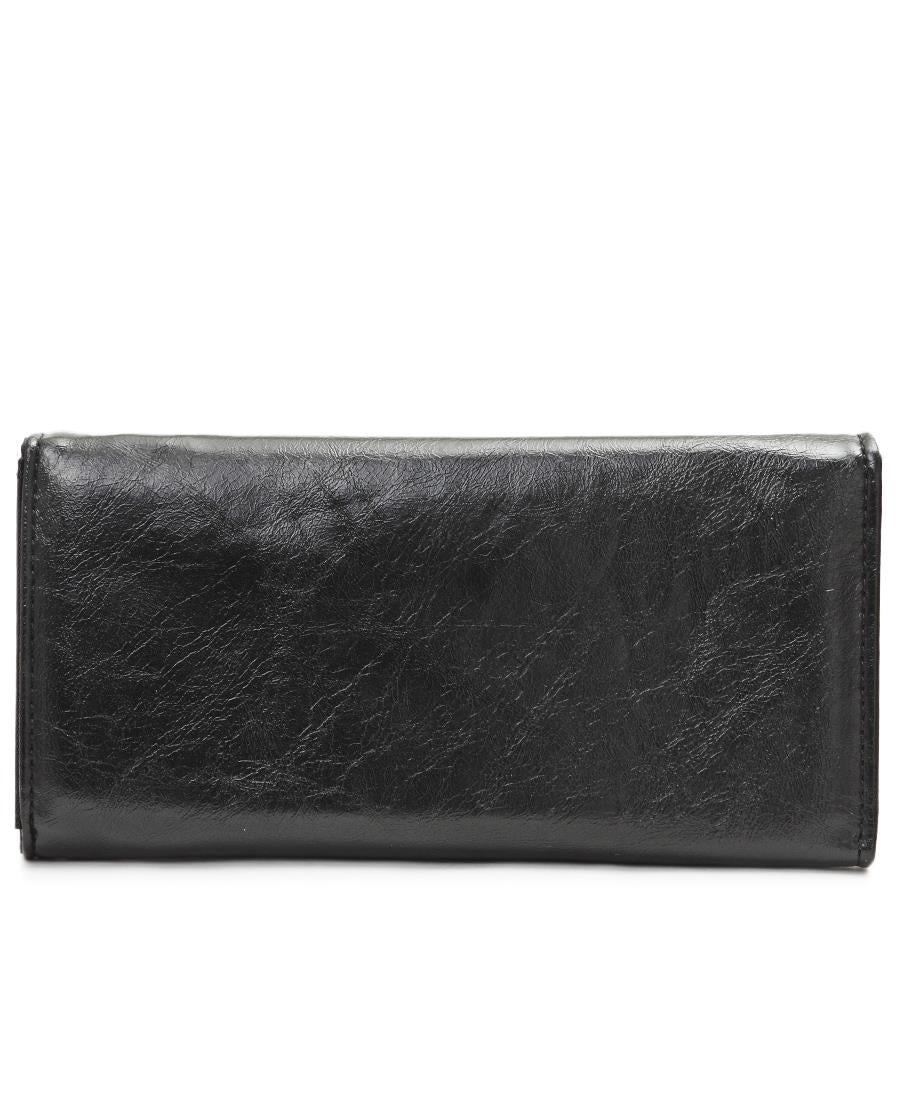 Embroided Wallet - Black