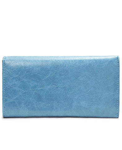 Embroided Wallet - Blue
