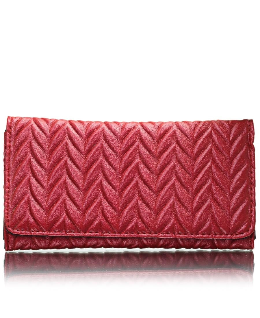 Quilted Wallet - Red