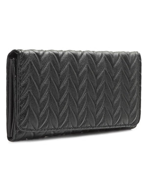 Quilted Wallet - Black