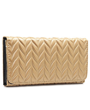 Quilted Wallet - Camel