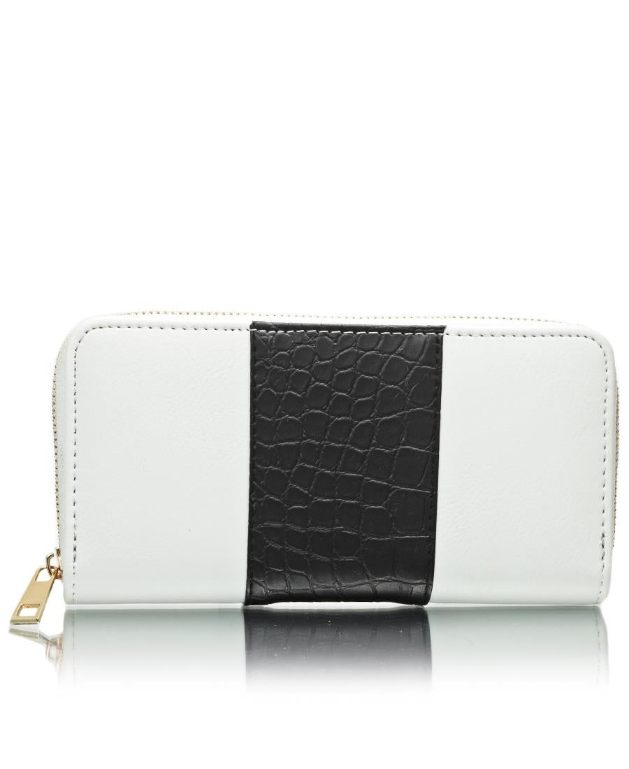 Croc Embossed Wallet - Black