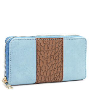 Croc Embossed Wallet - Tan