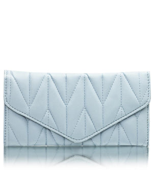 Quilted Wallet - Blue