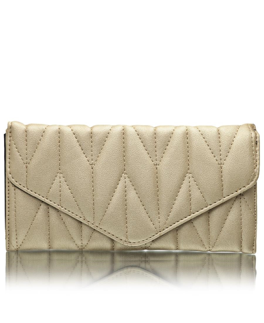 Quilted Wallet - Gold
