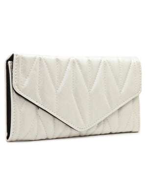 Quilted Wallet - Champagne