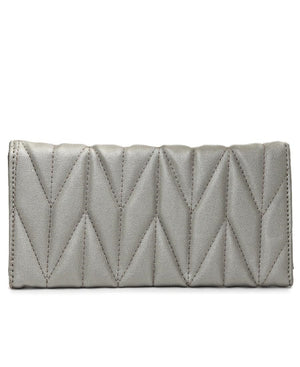 Quilted Wallet - Pewter