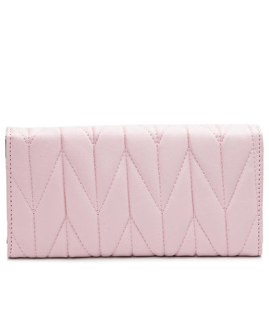Quilted Wallet - Pink