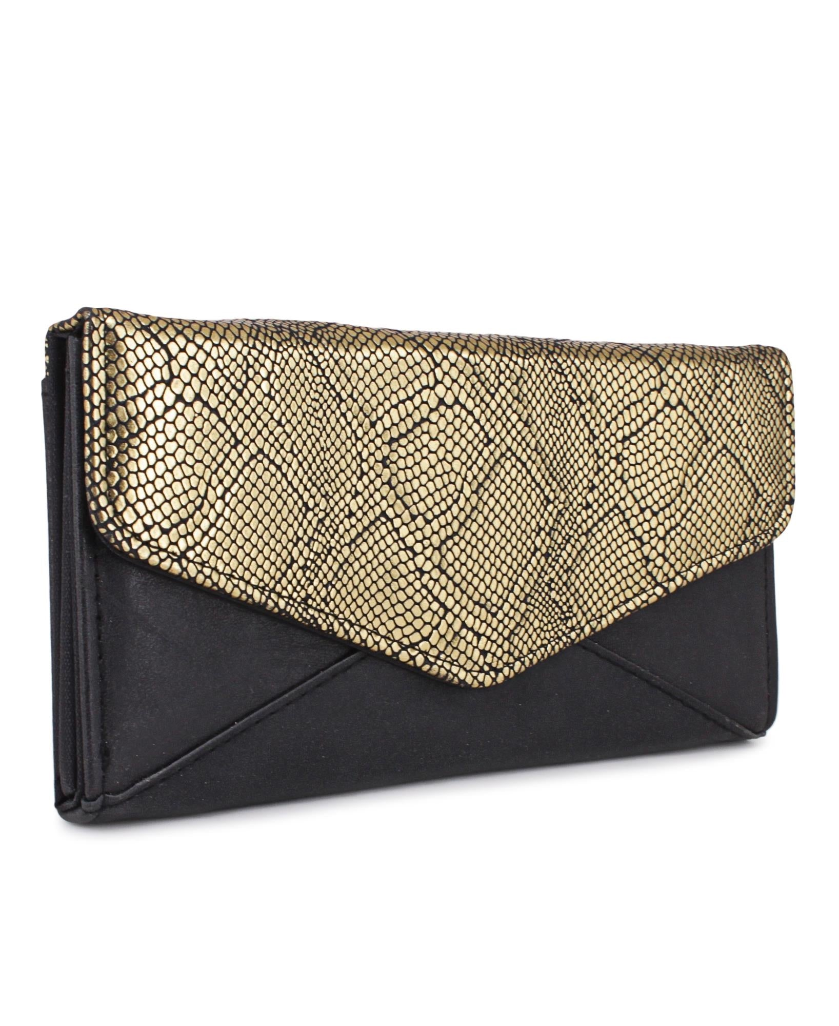Flap Wallet - Gold