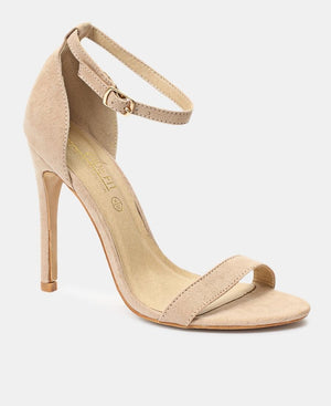 Ankle Strap Heels - Nude