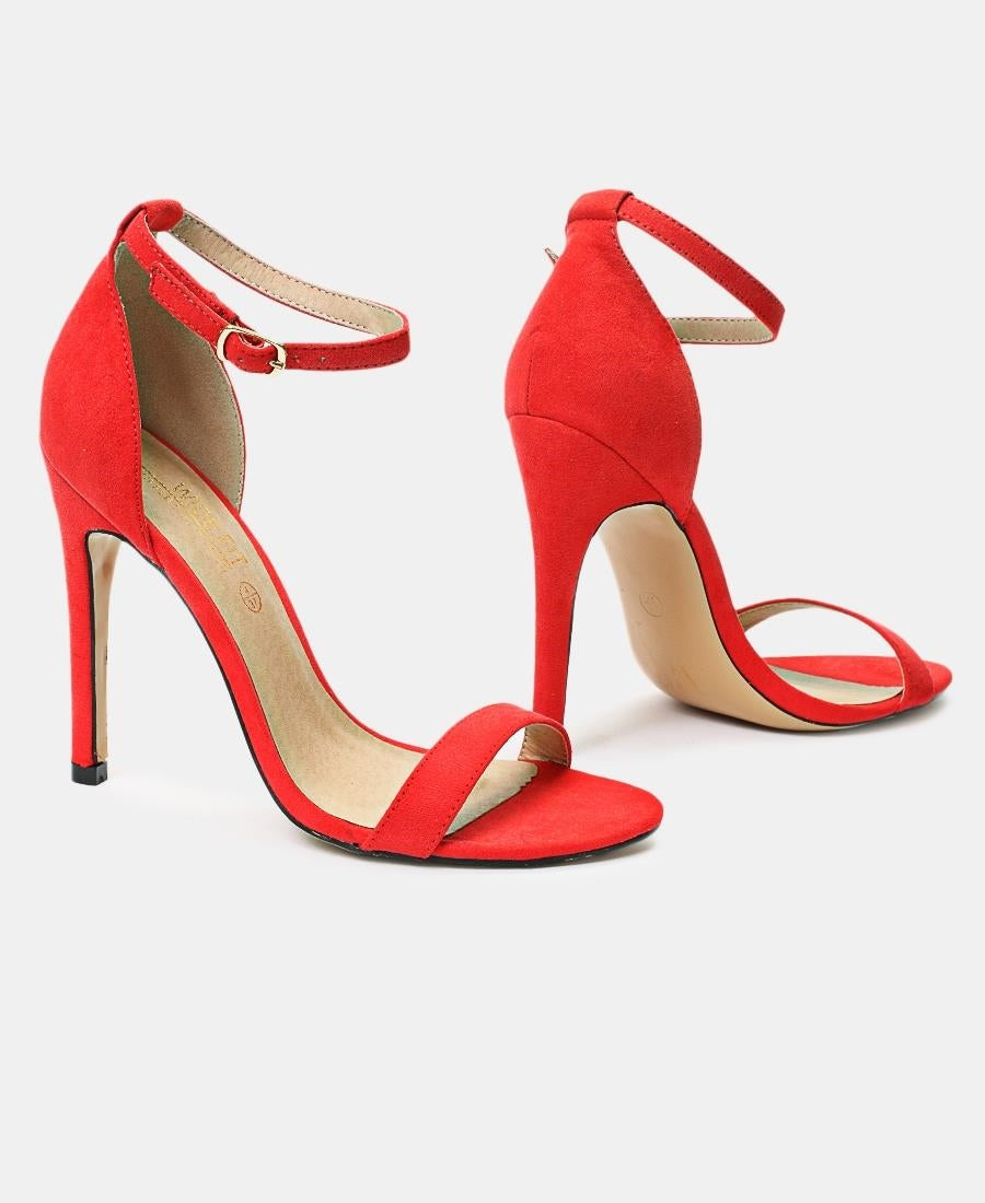 Ankle Strap Heels - Coral
