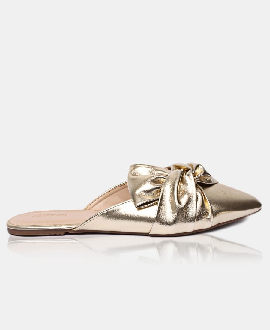 Slip On Sandals - Gold