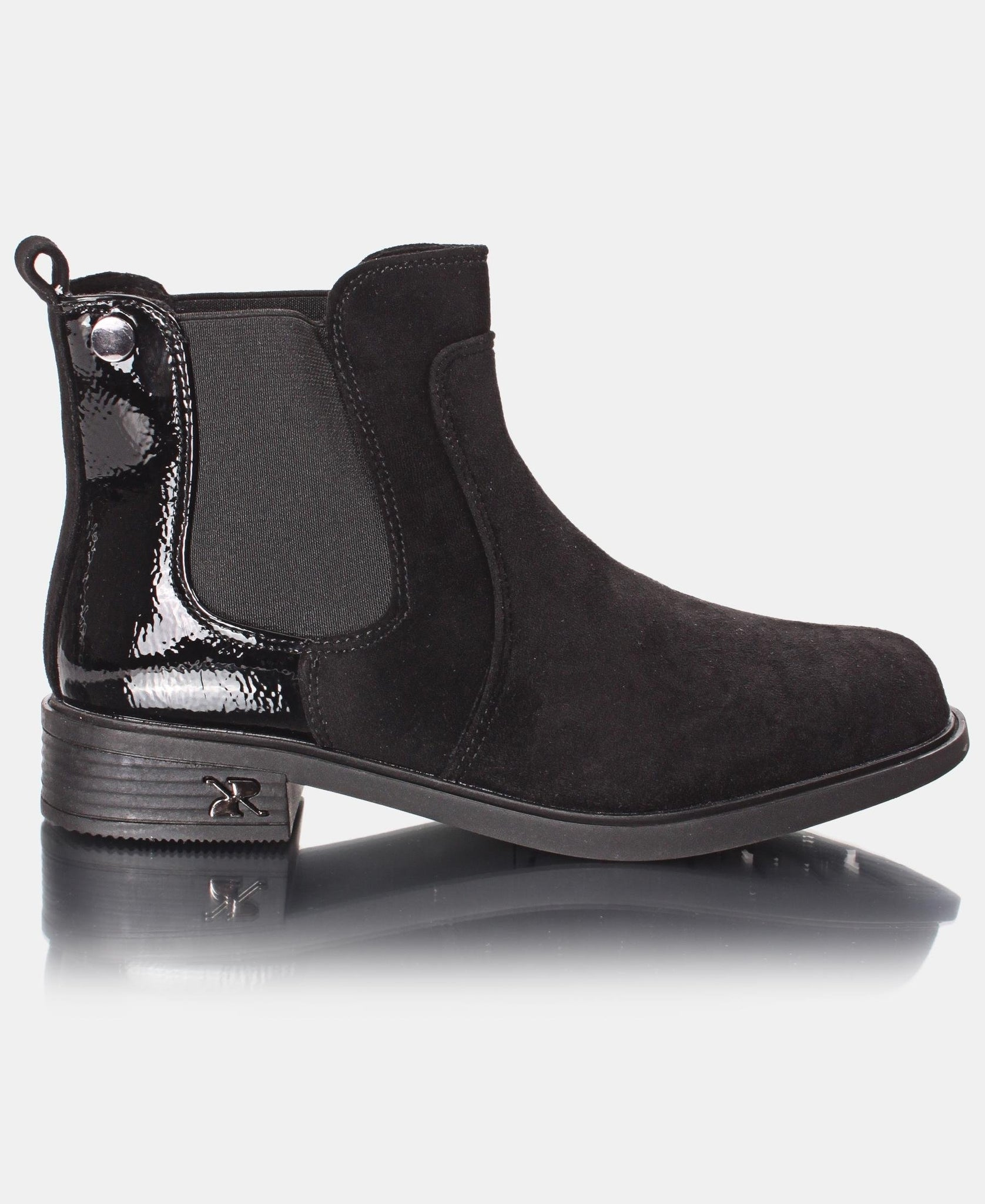 Comfy Suede Ankle Boots - Black