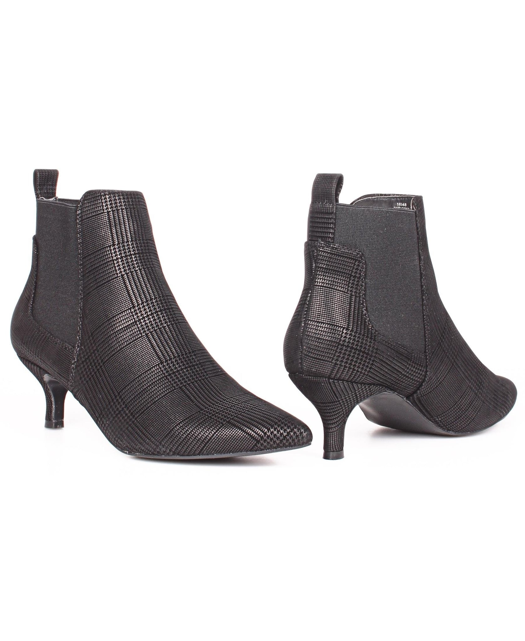 Comfort Insole Ankle Boots - Black