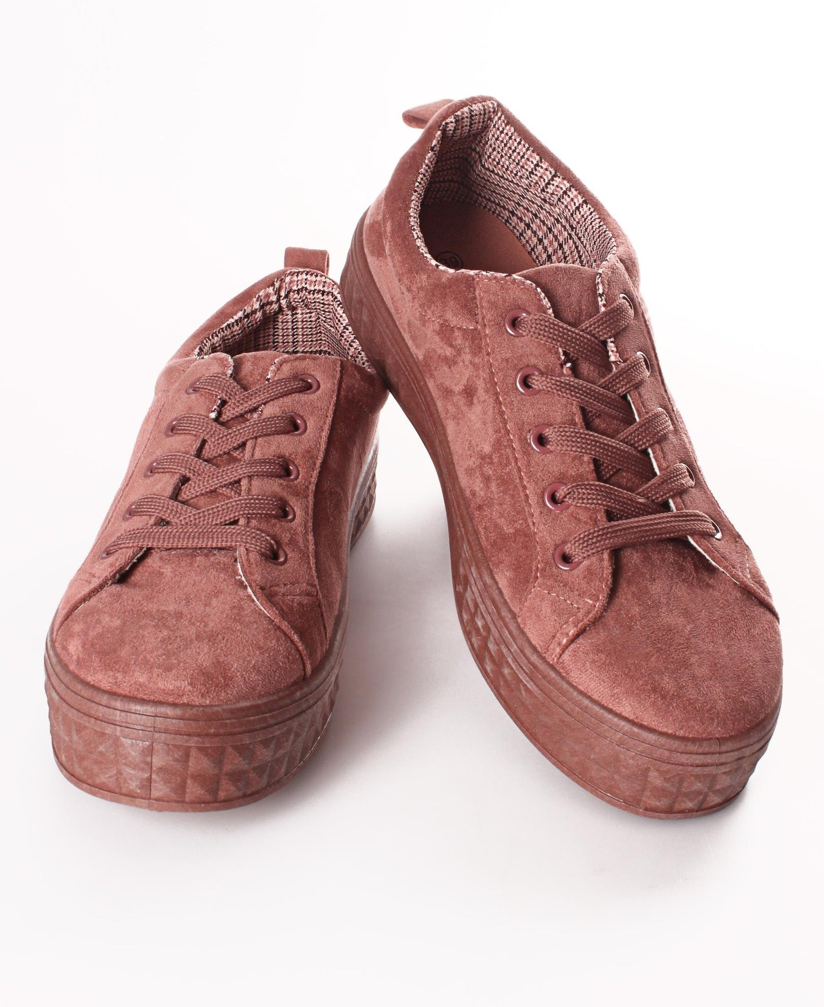 Ladies' Suede Feel Sneakers - Mink