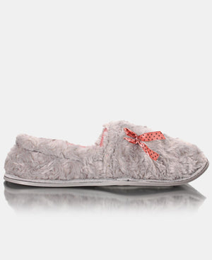 Ladies' Fluffy Slippers - Grey