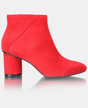 Ladies' Ankle Boot - Red