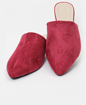 Slip On Sandals - Burgundy