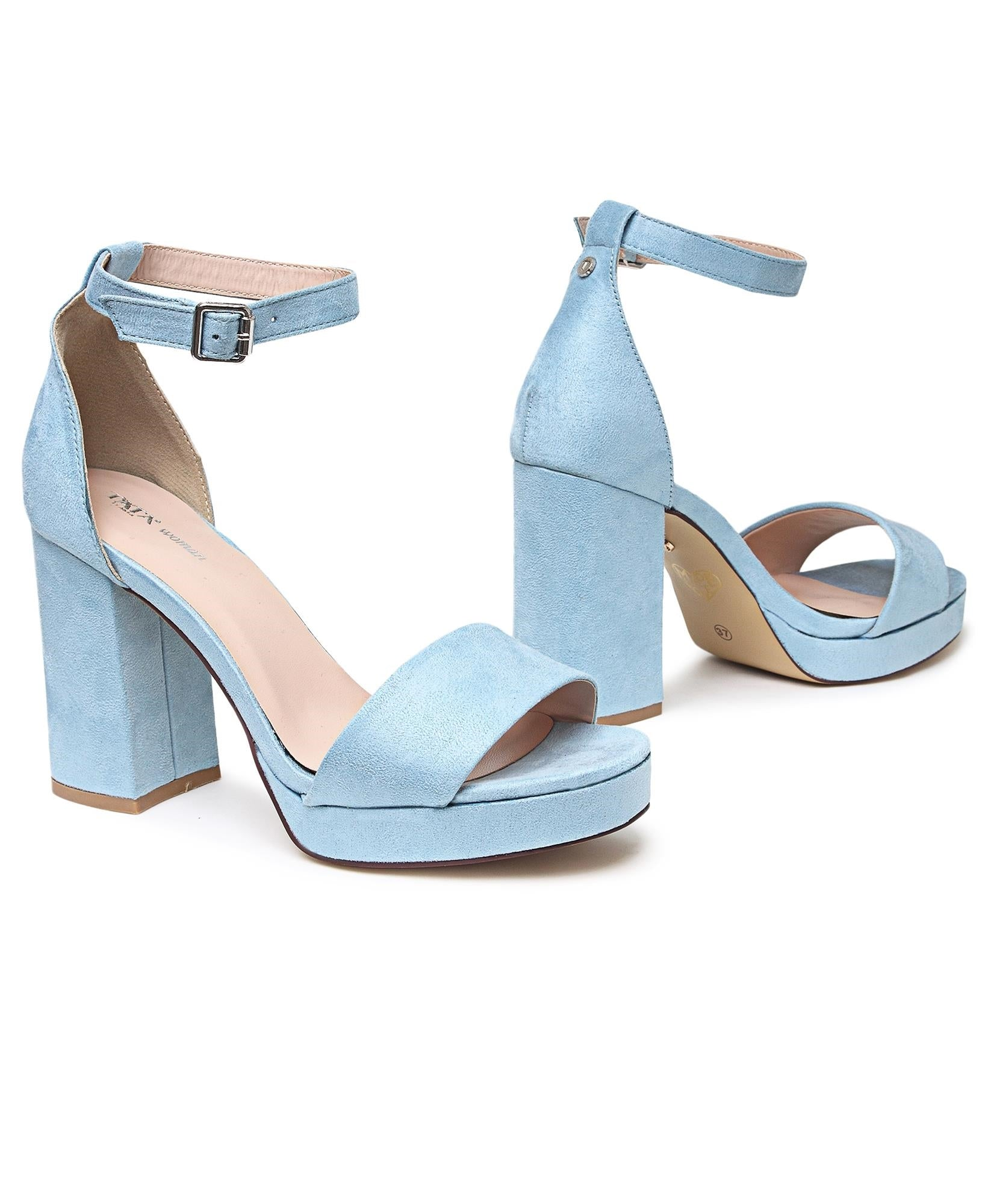 Block Heels - Light Blue