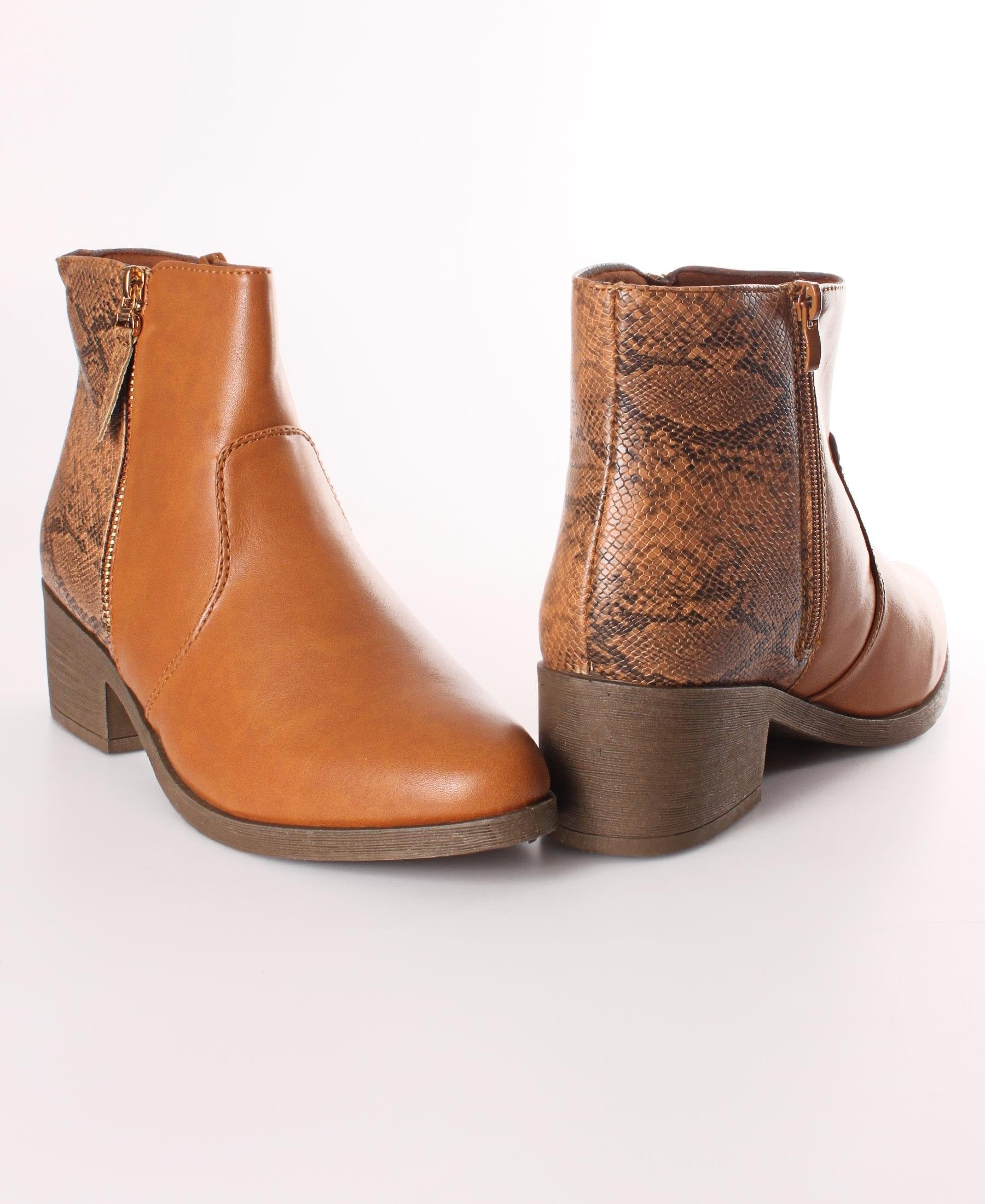 Ankle Boots - Tan