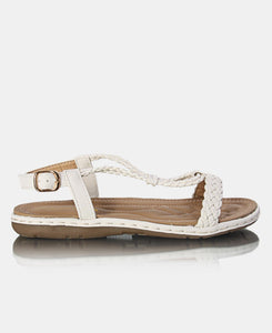 Comfy Strappy Sandals - White