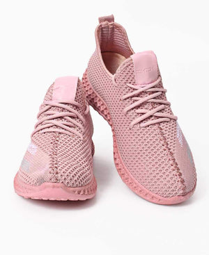 Ladies' Casual Sneakers - Pink