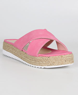 Ladies' Espadrille Sandals - Pink