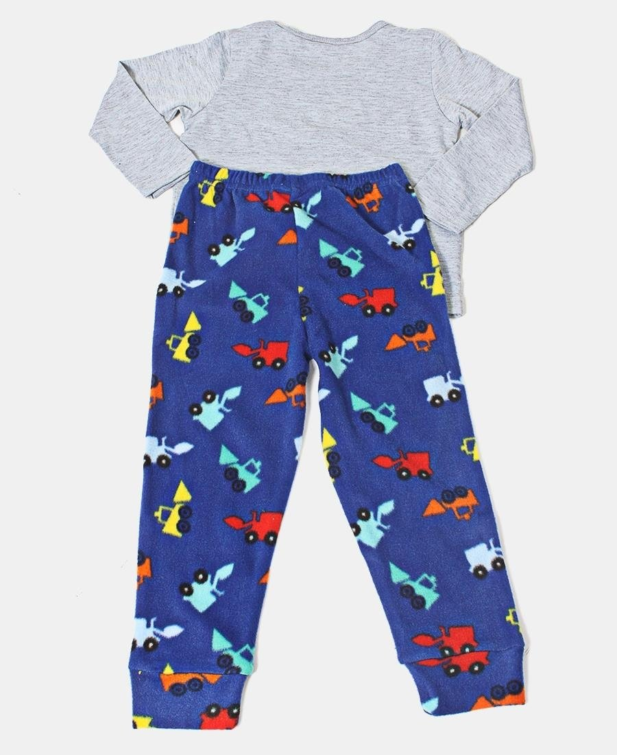 Kids Heavy Dozer Pyjama Set - Grey