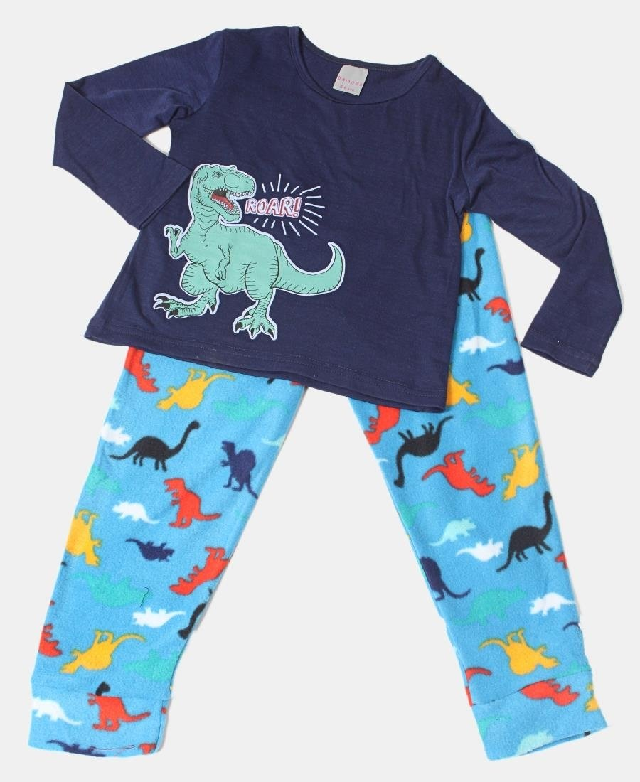 Kids Dino Pyjama Set - Navy