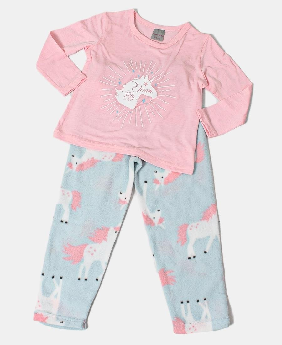Girls Unicorn Set Pyjama Set - Pink