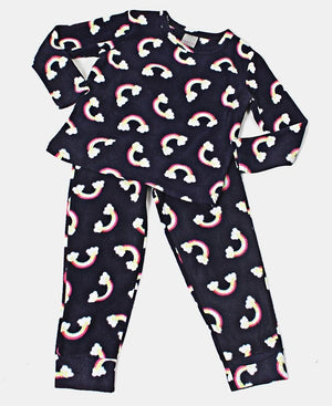 Kids Rainbow Set Pyjama Set - Navy