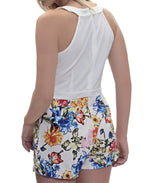 Floral Jumpsuit - White