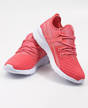 Ladies' Casual Sneakers - Coral