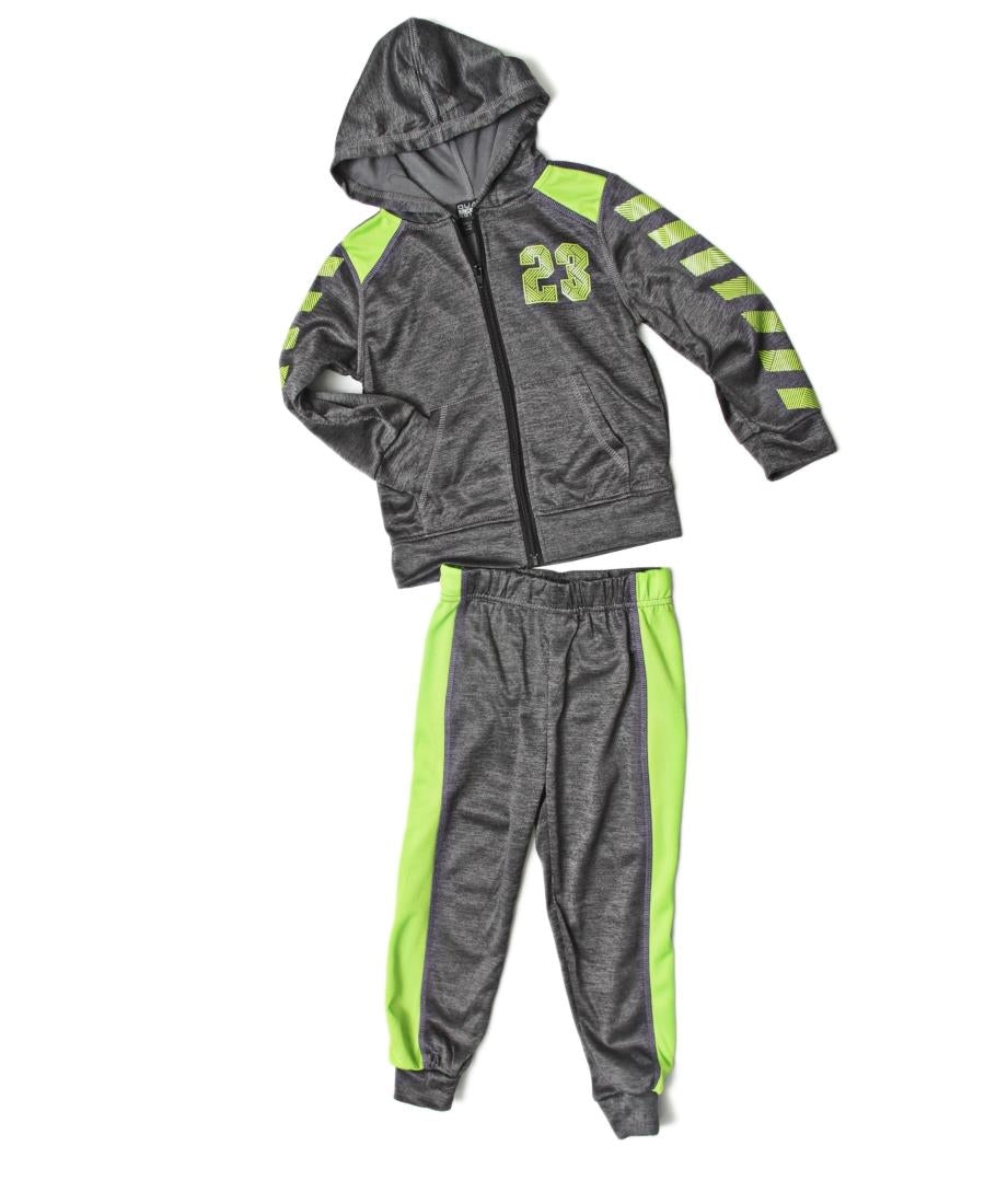 Boys 2 Piece Tracksuit - Green