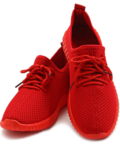 Junior Casual Sneakers  - Red