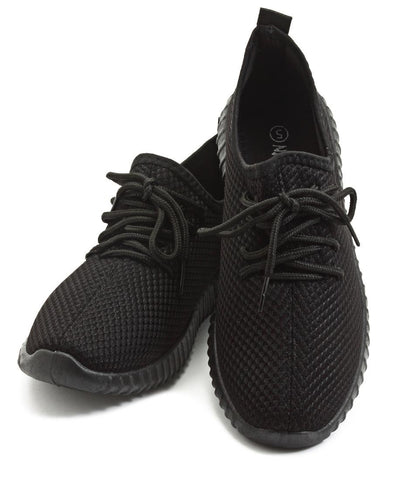 Junior Casual Sneakers  - Black