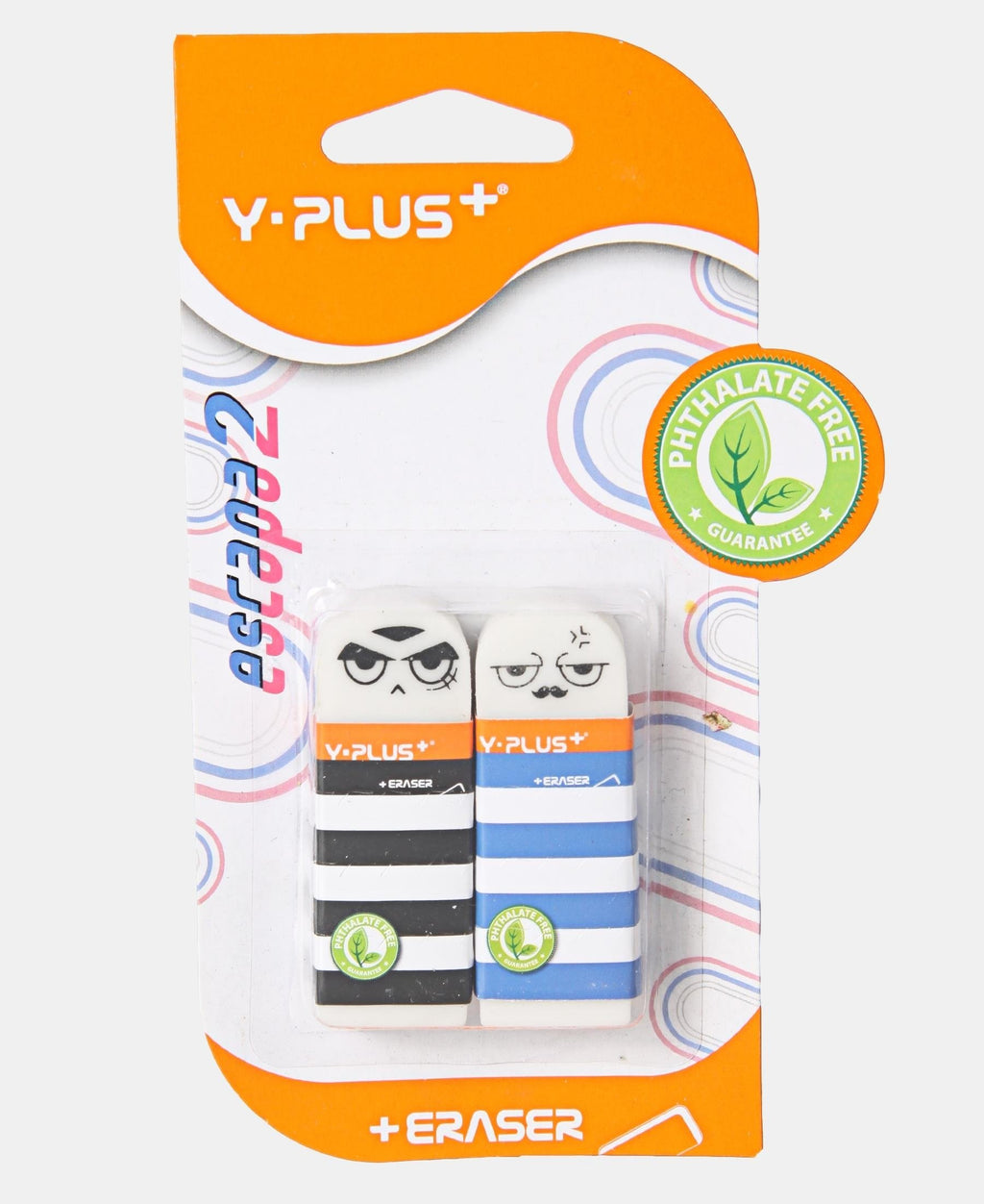 Y-Plus 2 Pack Escapa Erasers - Multi