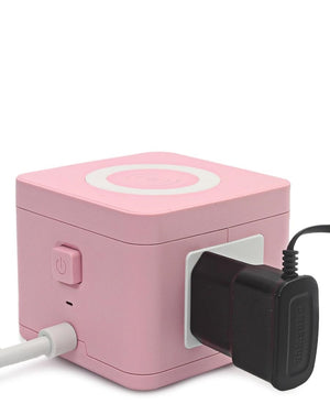 Multi Adaptor Tower With Wireless Charger - Pink