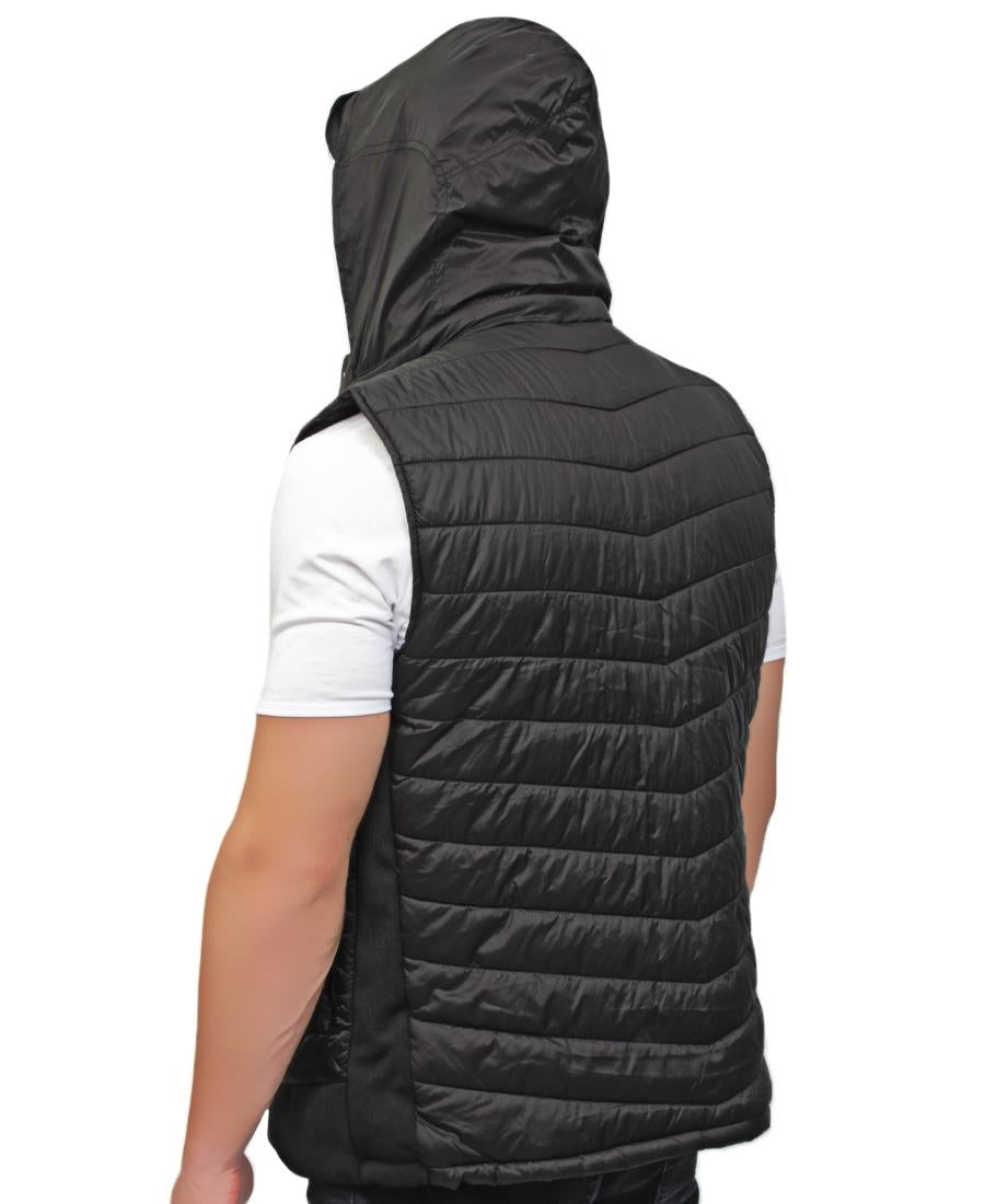 Police Sleeveless Jacket - Black
