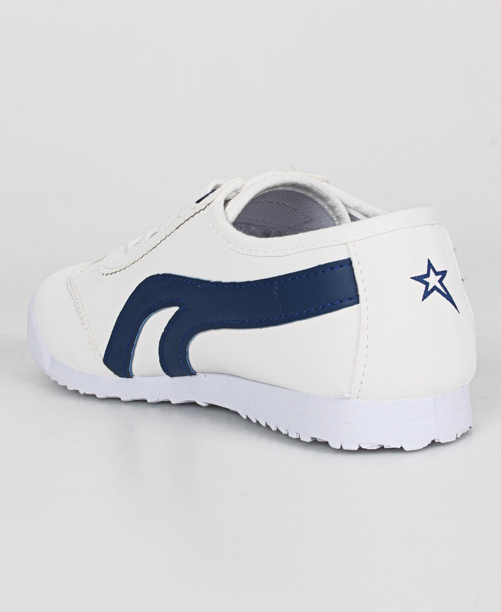 Youth Lamar Sneakers - White-Navy