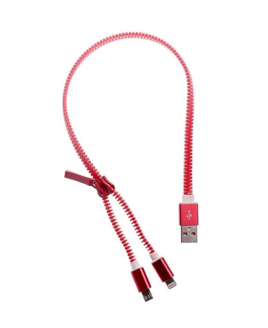 Zip Style USB Cable - Red