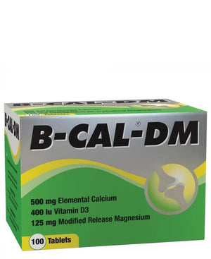 B-Cal Dm 100 tablets - White
