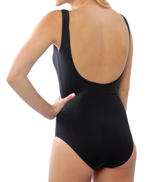 Mesh Neck Suit - Black