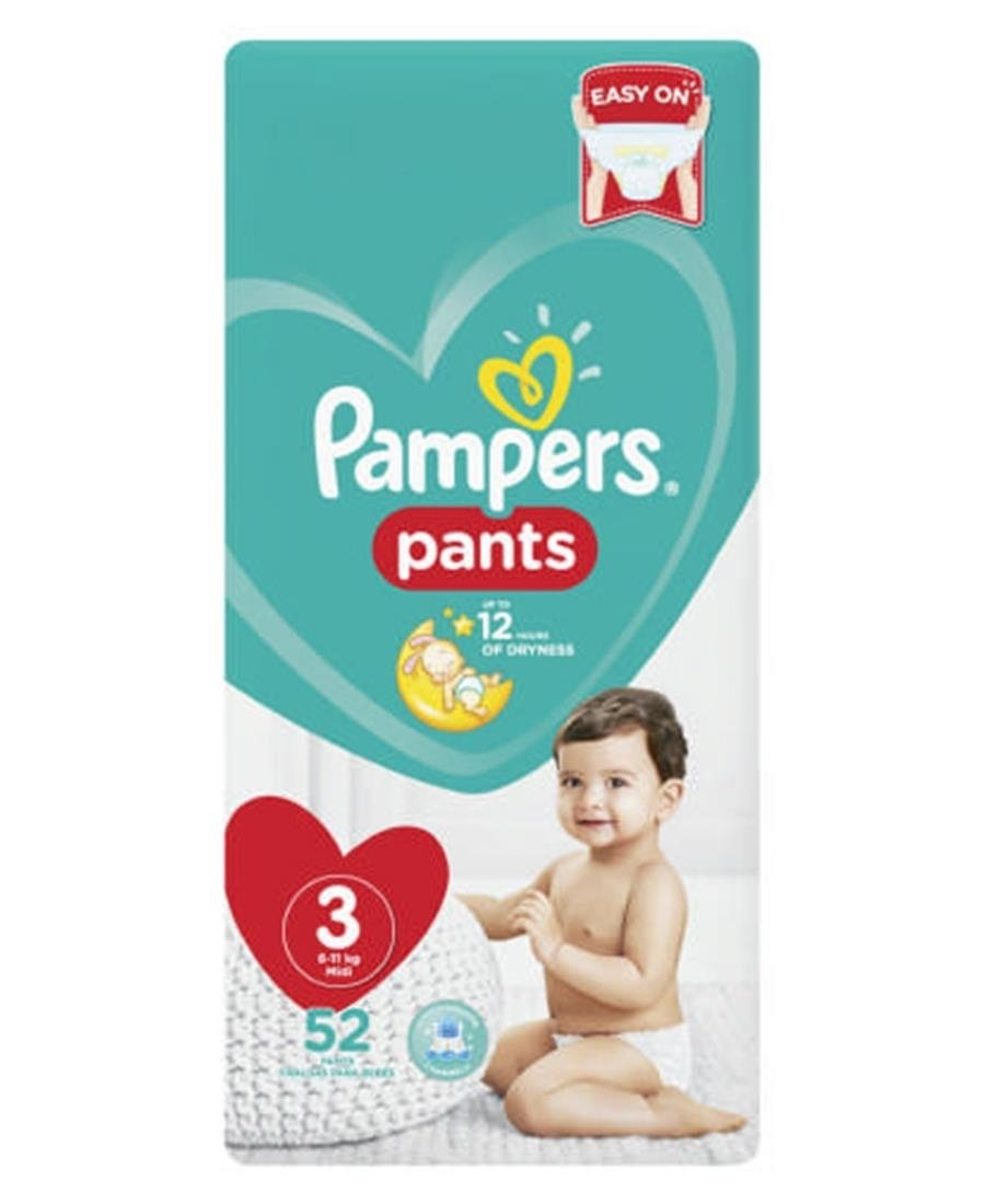 Pampers Diaper Pants 52s  3 - Blue