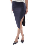 Suede Skirt - Navy