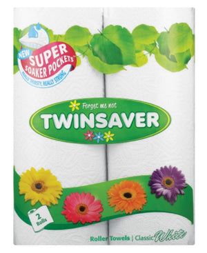 Twinsaver Towels 2s - White